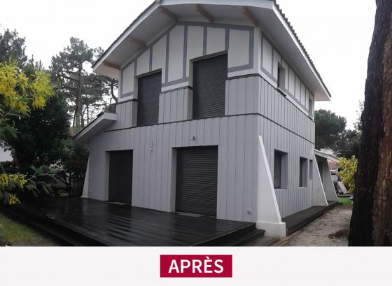 Bathic A Lege Cap Ferret Une Surelevation D Une Belle Maison